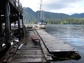 Photo: June 8 - The dock in Butedale.