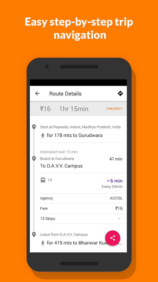 Chalo (Previously Zophop): Live bus tracking- screenshot