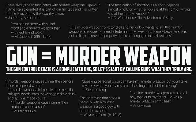 Gun = Murder Weapon
