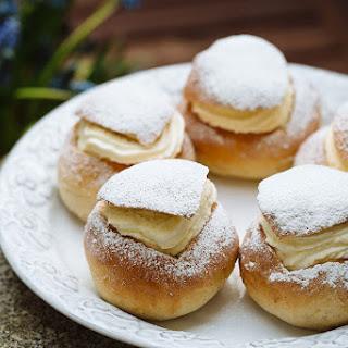 Swedish Cream-filled Cardamom Buns (semlor)