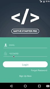 Native Starter Pro Demo- screenshot thumbnail