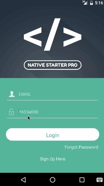 Native Starter Pro Demo- screenshot