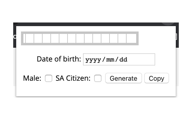 SA ID Number Tools