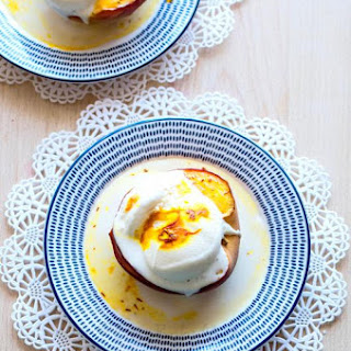 Baked Peaches with Saffron.