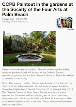 Photo: Plein Air Artists Meetup at the Society of the Four Arts on 12-12-13