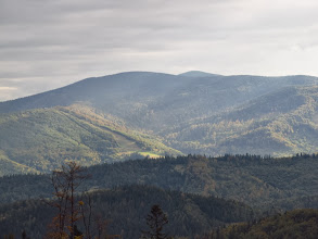 Photo: 16.Kiczorka (1298 m) i Polica (1369 m).