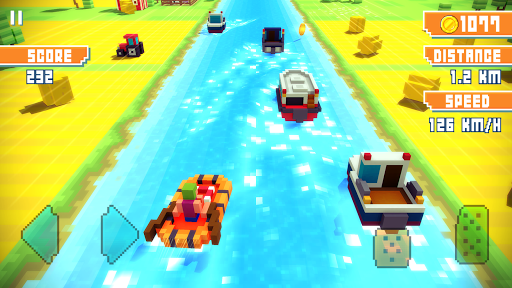 Blocky Highway Traffic Racing Mod Full Tiền Vàng