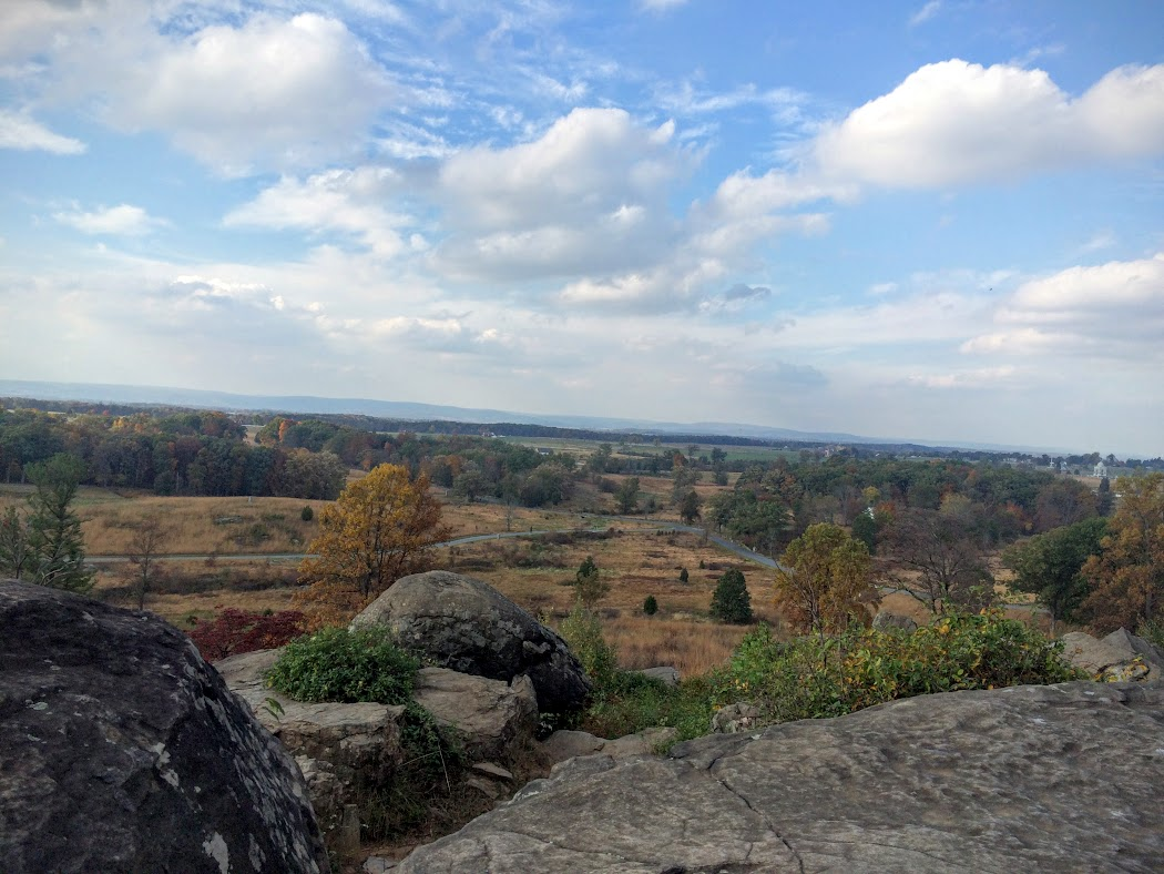 From the top of Little Round Top.