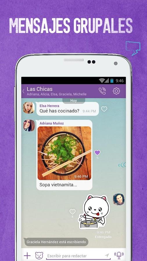 Viber: captura de pantalla