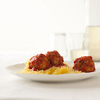 Turkey Meatballs with Spaghetti Squash.