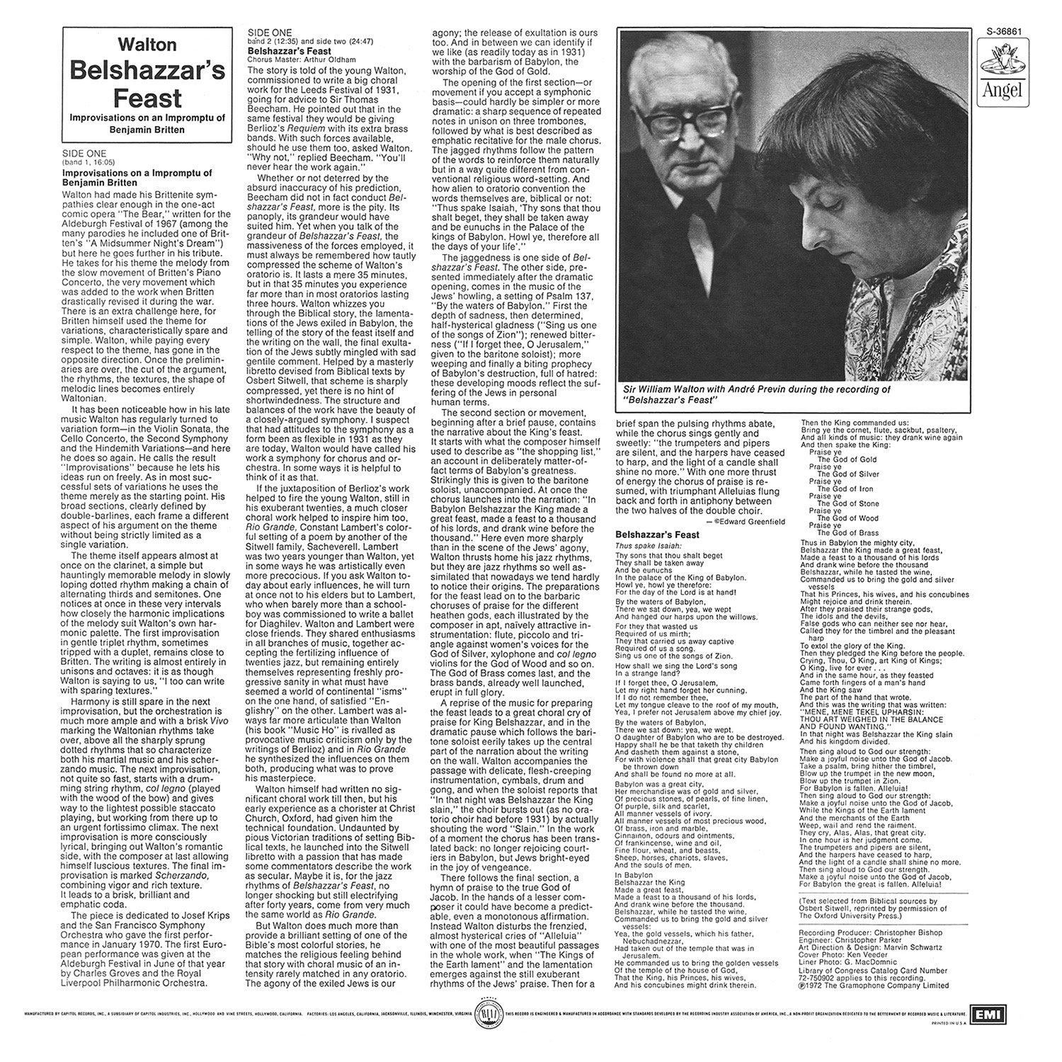 André Previn, William Walton