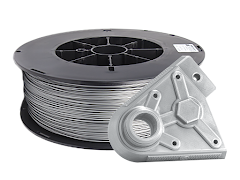 Silver PRO Series PLA Filament - 2.85mm (5lb)