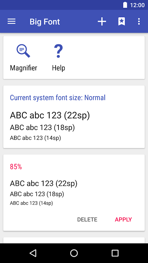Big Font (change font size) - Android Apps on Google Play