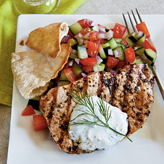 Greek-Style Pork Chops.