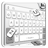White Grey Business Simple Style Keyboard Theme