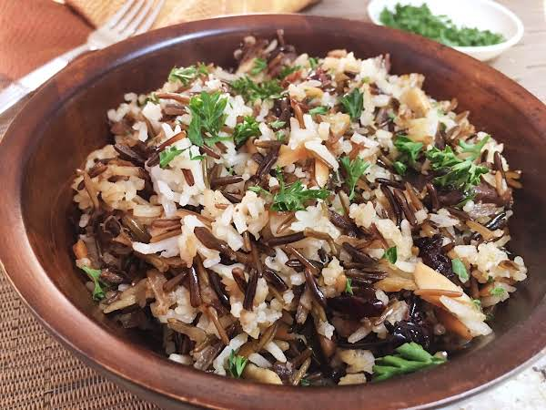 Wild Rice Pilaf With Porcini,cranberries & Almonds Recipe