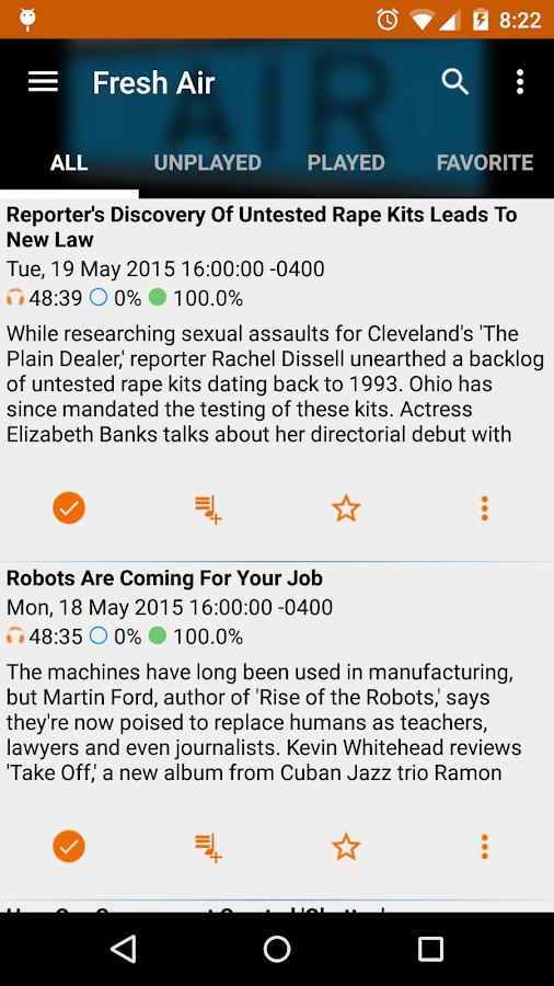 Public Radio & Podcast- screenshot
