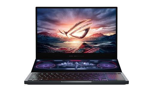 The Asus ROG Zephyrus Duo 15 gaming laptop.