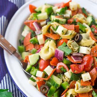 Tortellini Pasta Salad with Pepperoni and Italian Vinaigrette Recipe