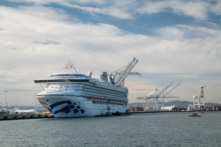 Carnival's Grand Princess cruise ship docked at Oakland, California, US, March 10 2020. Picture: BLOOMBERG/DAVID PAUL MORRIS