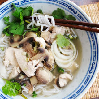 Quick Asian Chili-Lime Chicken Soup.