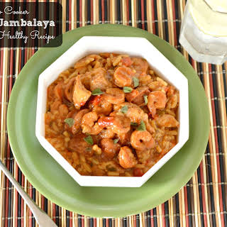 Heart Healthy Loaded Jambalaya in the Crock Pot.