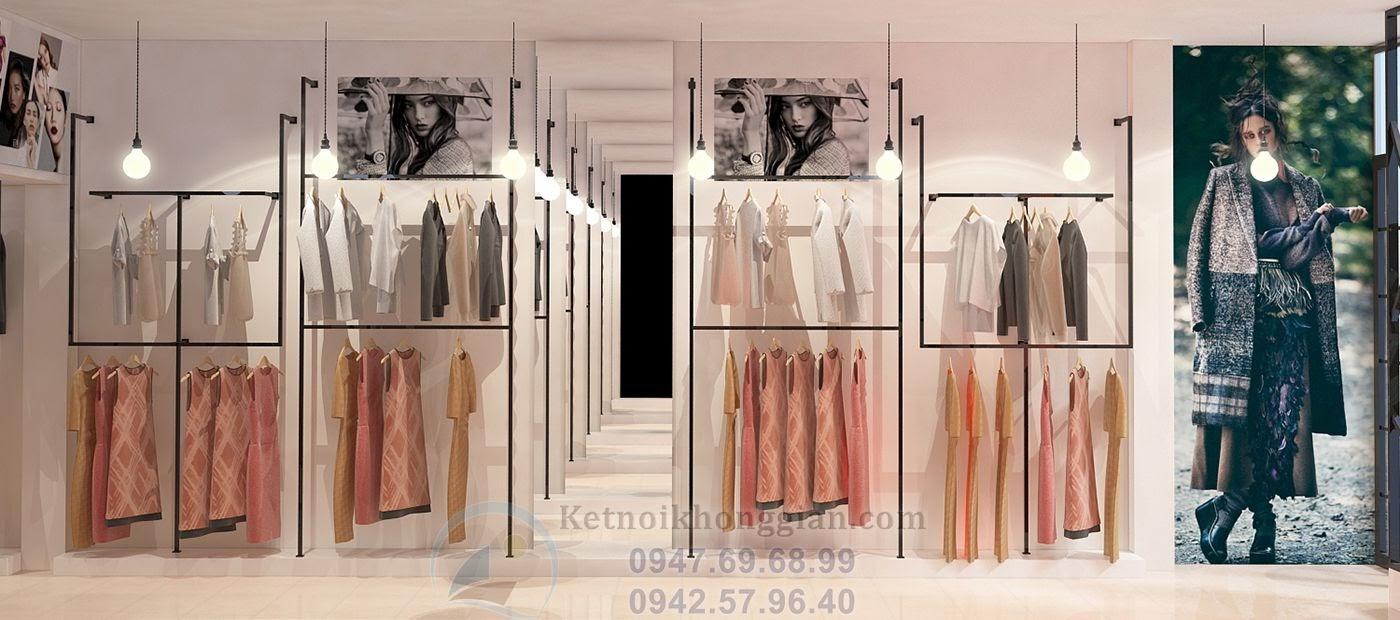 thiết kế shop thời trang thiếu sáng