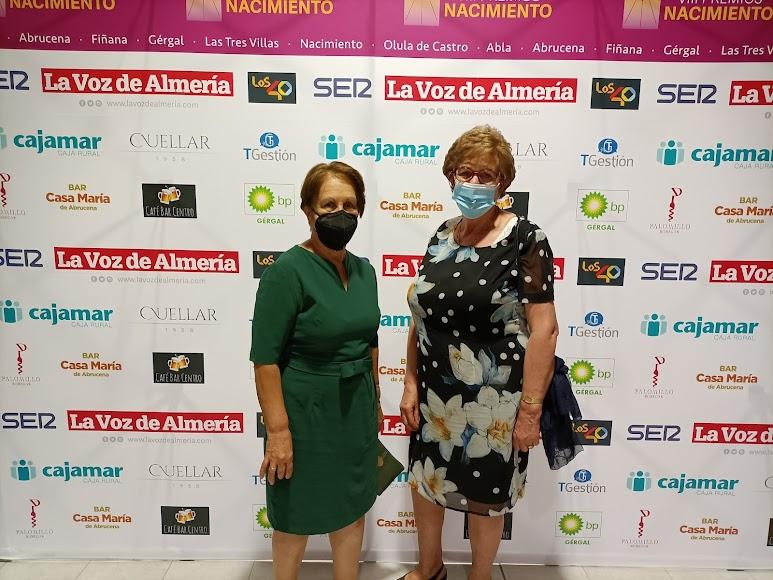 Mª Dolores García y Carmen Barón.