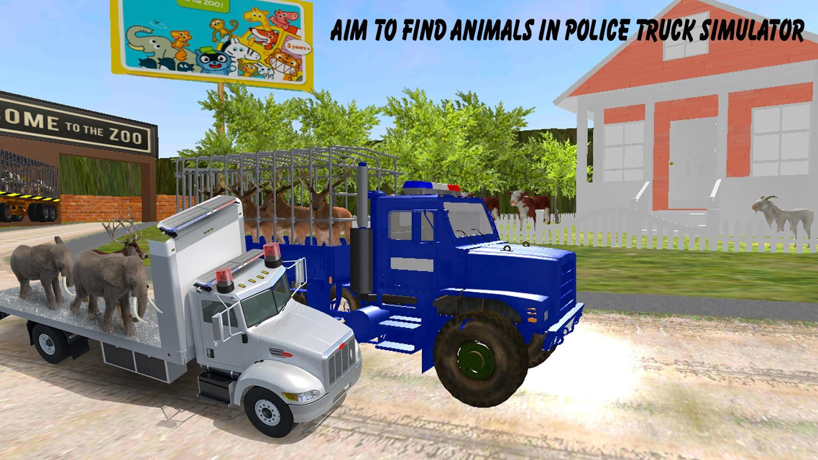 Police Truck Animals Transport- screenshot