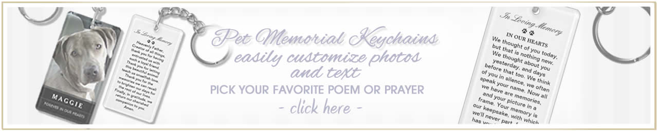 purchase pet memorial custom keychains with poem