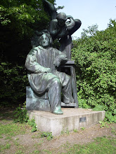 Photo: Orstedsparken. A statue that struck me because of a friend who had recently died
