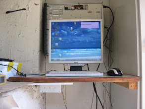 Photo: Mounted the Powersupply upsidedown on a piece of Plaster for fire-safety
