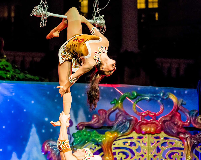 Acrobats perform at a show in Orlando, Fla.