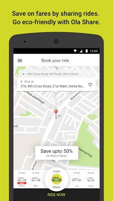 Ola cabs - Book taxi in India - screenshot