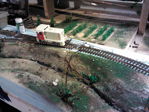 Photo: Model train - wine country under construction