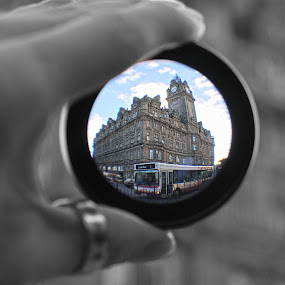 balmoral through my eyes by Danny Charge - Buildings & Architecture Public & Historical ( old, building, fun, through, wide, lens, angle, balmoral )