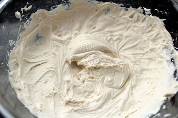 Cream cheese and whipped cream creamed together.