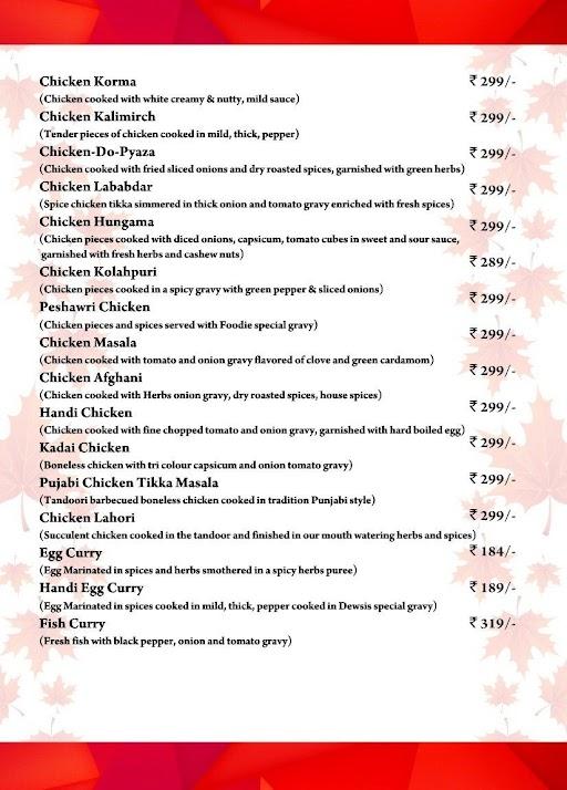 Foodie Restaurant menu 3