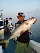 Photo: 参りました。 ヒラス3本目キャッチです! 「魚運を一気に放出!」