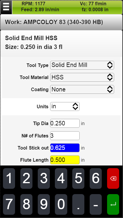 FSWizard Machinist Calculator- screenshot