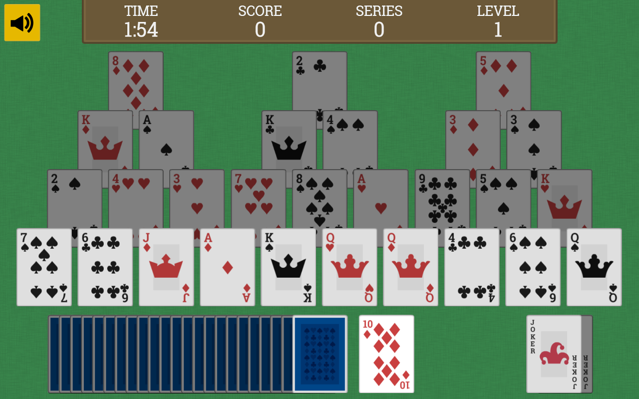 Pyramids - Tripeaks Solitaire- screenshot