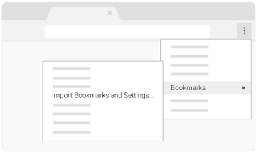 Import and manage bookmarks