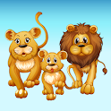 Animals educational puzzle games for kids icon