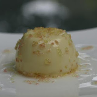 Finger Lime Panna Cotta With Finger Lime Syrup