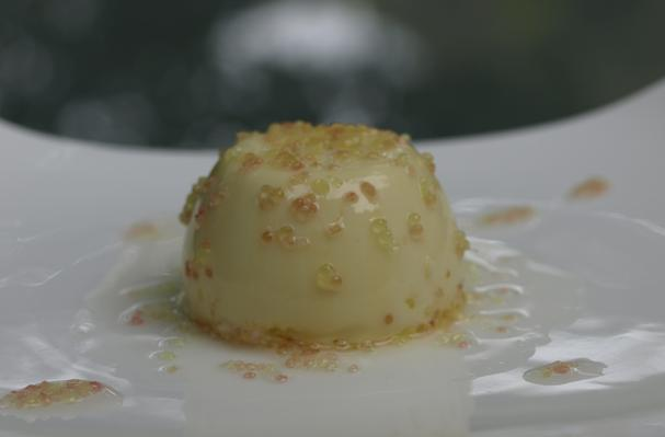 Finger Lime Panna Cotta with Finger Lime Syrup Recipe