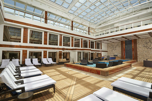 Rain or shine, enjoy Haven Courtyard, a luxury retreat on Norwegian Joy.