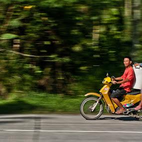 Habal-habal by Marlon Diwata - Transportation Motorcycles