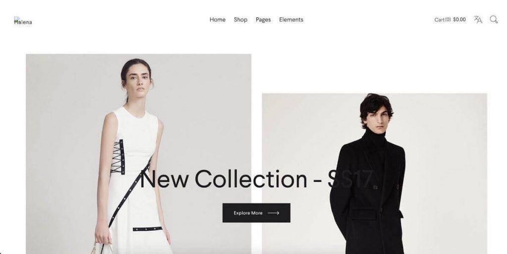 Halena - fashion ecommerce wordpress themes