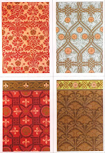 Photo: wallpaper designs of the 1870's and 80's