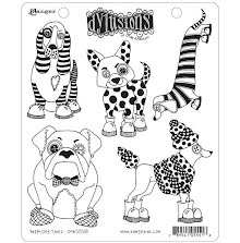 Dylusions Cling Stamps 8.5X7 - Puppy Dog Tales